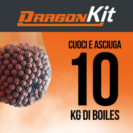 Kit DragonBoiles: cuoce e asciuga 10 kg di boiles carpfishing