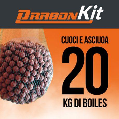 Kit DragonBoiles: cuoce e asciuga 20 kg di boiles carpfishing