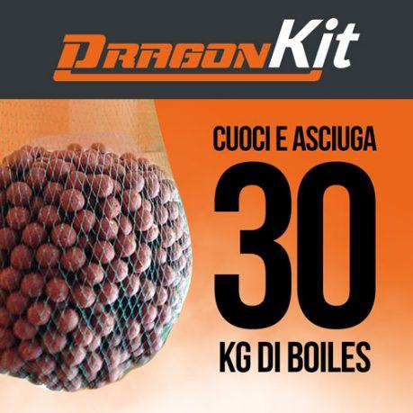 Kit DragonBoiles: cuoce e asciuga 30 kg di boiles carpfishing
